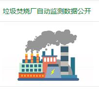 垃圾焚烧厂自动监测数据公开专栏
